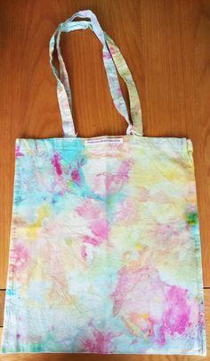 Multi coloured ice dye tote bag by FrancescaRoseJ on Etsy