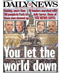Absolutely devastating critique of the Obama administration on the front page of the left-leaning NY Daily News