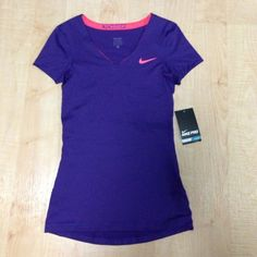Purple Nike shirt Brand new and bright purple Nike Tops