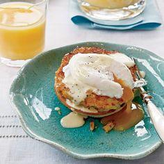 Horseradish Crab Cake Benedict with Simple Hollandaise | Coastalliving.com
