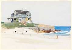 House by the Sea, Edward Hopper, 1923-1924