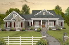 Houseplans.com  Plan # 56-589... nice open layout!  With the walkout basement, you could have additional bedrooms and play area.  Very nice!