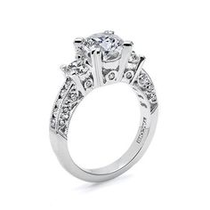 Gems – 1.10ct GVS (not including center stone)  Material – Platinum  This platinum and diamond eternity ring has a round center stone, side stones, channel-set diamonds, and round pave-set diamond details adorning the crescent silhouettes. This setting is also available: Petite; as a Solitaire (HT2326SOL); with diamonds set eternity around the ring. ◾these prices are for the mounting only and center stones are priced separately.