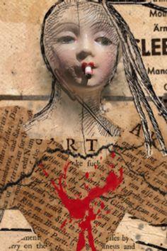 Allegra Rose - Broken 'Art, oiled digital print on antique medical dictionary circa 58 x 43 cm. Medical Dictionary, Digital Prints, Past, Antiques, Gallery, Fictional Characters, Fingerprints, Antiquities, Past Tense