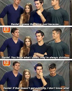 Image via We Heart It https://weheartit.com/entry/153325477 #teenwolf #maxcarver #hollandroden #danielsharman #dylano´brien