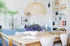 luminária pendente de fibra natural; Casa de Valentina
