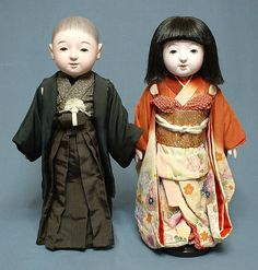 A set of Ichimatsu dolls.