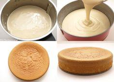 Bizcocho genovés - MisThermorecetas.com Tiramisu, Brownies, Icing, Cheese, Desserts, Recipes, 3, Cakes, Brazil