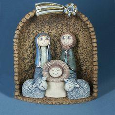 Christmas Nativity, Christmas Crafts, Light Of Christ, Ceramic Angels, Jesus Art, Christmas Trends, Handmade Christmas Decorations, Pottery Classes, Theme Noel