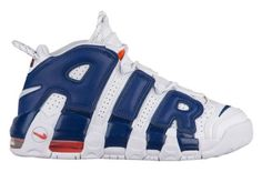 A Nike Air More Uptempo In Knicks Colorways
