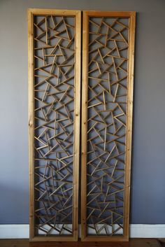 Elm Wood Lattice Chinese Panel