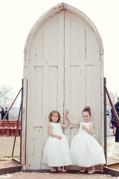 Sweet flower girls | photo by The Nichols « Southern Weddings Magazine