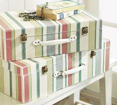 Stripey equipaje DIY
