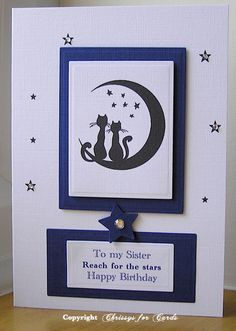 Two friendly cats sharing the moon card