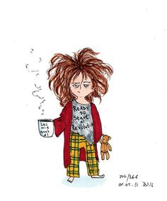 "Manka Kasha :"" I've got nearly no sleep at all and was just generally being sick and grumpy ~ I don't actually own ""ready to start a revolution"" t-shirt"" Art And Illustration, Cute Cartoon Wallpapers, Coffee Art, Doodle Art, Cartoon Art, Cute Drawings, Cute Art, Art Sketches, Art Girl"