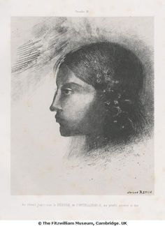 Upon awakening I saw the Goddess of the Intelligible with her severe and hard profile - Odilon Redon