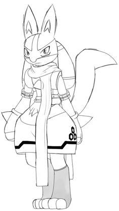angelutf: made a bit of a minor adjustment to the first sketch. Lucario Pokemon, My Pokemon, Cool Pokemon, Pokemon Stuff, Best Pokemon Ever, Kawaii, Anime, Furry Art, Cool Art