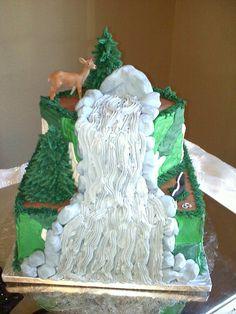 Beautiful mountain cake