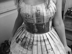 This Instructable will teach you how to make a dress out of newspaper using a sewing machine. It makes a great recycled Halloween costume or a very interesting party dress. This was part of a Halloween costume of The Old Gray Lady, a nickname for the New York Times. (Hence the makeup and hairdo.) It consists of a fitted, pleated bodice, a puffy petticoat, and a removable waistband, all made completely from newspaper and thread, with no glue or tape used in the process. It is surprisingly…