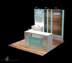 Are you looking for a trade show display for your next expo? This 10 x 10 Pixel booth is perfect for any event and customizable for your trade show needs. This booth is reconfigurable to fit a 10 x 20 space. Click the link to explore more booth options! Trade Show Booth Design, Display Design, Trade Show Booths, Design Design, Graphic Design, Design Ideas, Exhibition Stall Design, Exhibition Display, Exhibit Design