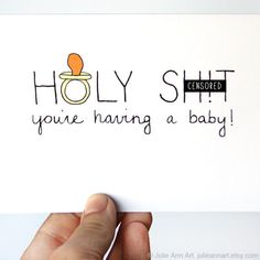 Pregnancy Card Congratulations New Baby Card Baby by JulieAnnArt