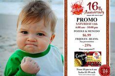 ¡#Agosto de #promociones en La Milpa! #August Everyday #Promo at La Milpa! #24HRS  #LaMilpaRVA - Real #Mexican #Food & #Market 6925 Hull St. Rd. #Richmond, #VA 23224-2547 lamilpaonline@gmail.com http://buff.ly/2biy8TS (804) 276 3391  #Sábado #Saturday #OFF #Discount #Descuento #Gratis #Free #RVA #Virginia #Restaurant #Foodie #rvadine #loveVA #visitrichmond #rvafood