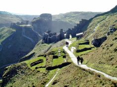 Tintagel Castle ruins, Cornwall, favorite place on this earth:)
