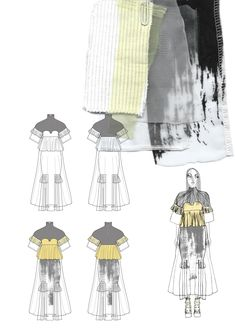 New Fashion Inspiration Board Sketchbooks Collage Ideas Mise En Page Portfolio Mode, Fashion Portfolio Layout, Fashion Design Sketchbook, Portfolio Design, Fashion Model Sketch, Fashion Sketches, Dress Sketches, Drawing Fashion, Deconstruction Fashion