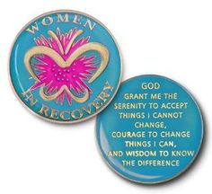 Women in Recovery Coin Medallion - Alcoholics Anonymous - Narcotics Anonymous