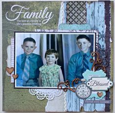 Kaisercraft Generations. History Page, History Books, Family History, Vintage Scrapbook, Baby Scrapbook, Scrapbook Page Layouts, Scrapbook Pages, Scrapbooking Ideas, Heritage Scrapbooking
