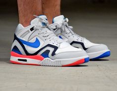 #Nike Air Tech Challenge II Blue/Infrared #sneakers