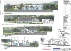 Aghnameadle 2010 by Darragh Quinn Architects Building Elevation, Elevation Plan, House Elevation, Organic Architecture, Architecture Plan, Passive House, Vaulted Ceilings, House Extensions, Modern Houses