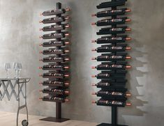 standing wine rack - Not everyone has enough space in their home for a wine cellar or storage space, so the Siderio 'Dioniso Basic!' standing wine rack is i.