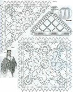 Schal  Quadrate Schema