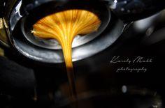 espresso with naked portafilter on Rancilio