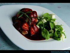 Kolorowa Kuchnia Magdy: Kurczak z truskawkami w sosie balsamicznym