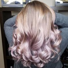 Love playing with the new Joico Intensity Metalics. I used Mauve with a splash of Rose and olaplex number 2 over her Balayage hilites