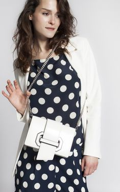 white Plex Ribbon flap cross body bag from Prada