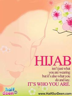 Hijab is who you are Niqab, Quran Quotes, Islamic Quotes, Favorite Quotes, Best Quotes, Hijab Quotes, Spiritual Enlightenment, Spirituality, Islam Women