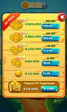 Garden Mania 2 by Ezjoy - Shop Currency  - Match 3 Game - iOS Game - Android Game - UI - Game Interface - Game HUD - Game Art