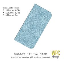 Femenine floral iPhone 5 wallet case damasc by WalletPhoneCase, $21.00