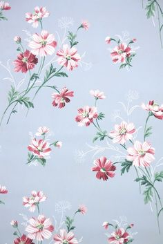 vintage wallpaper available to purchase on eBay from Hannah's Treasures Vintage Wallpaper Collection | 1950s floral vintage wallpaper