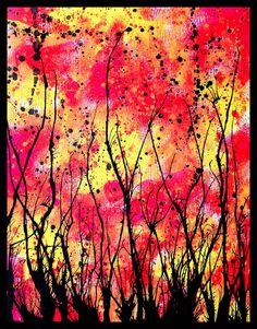 splatter paint art - Google Search