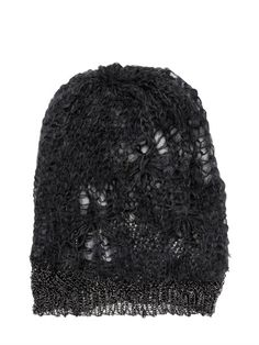 a6bc9de942e Shredded Wool Blend Knit Beanie Hat