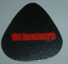 Runaways Guitar Pick Rare Promo item Runaways Movie Premiere Joan Jett Lita Ford