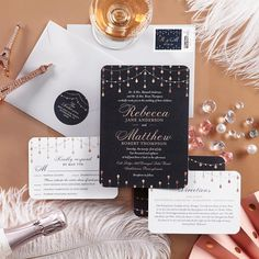From invites to enclosure cards, tie in all the beautiful pieces for a wedding that's true to the two of you.