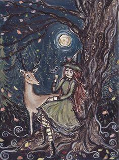 Forest Messengers by ArtbyLadyViktoria on Etsy