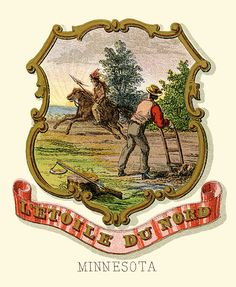 Coat of Arms of the State of Minnesota (illustrated, 1876)