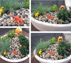 Build a dinosaur garden for the kids #dinosaur #garden