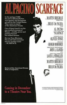 1983: Scarface  This is such an iconic image and has been on so many shirts that it's easy to forget it started as a simple poster for a gangster remake.
